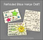 Folded Bible Verse Craft - Eph. 4:26