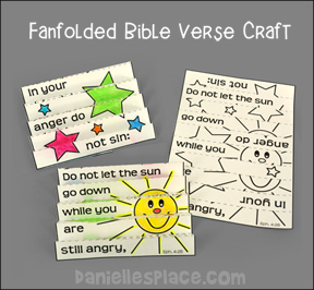 Folded Bible Verse Craft - Eph. 4:26