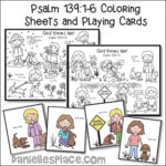 God Knows Me Coloring Sheets and Playing Cards NIV