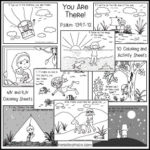 You Are There Psalm 139 Coloring Sheets