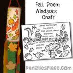 Fall Windsock Poem Craft