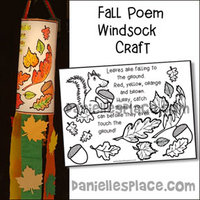 Fall Windsock Poem Craft