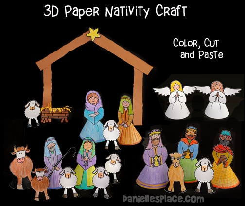 Stand-up Paper Nativity Craft