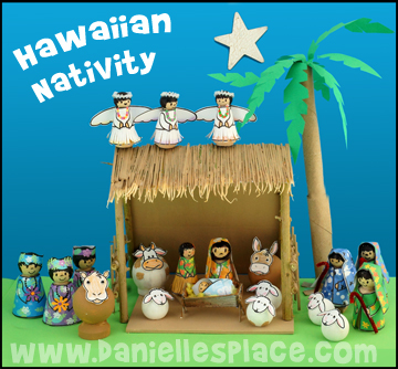 Hawaiian Peg Doll Nativity Set Craft
