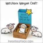Matchbox Manger Craft