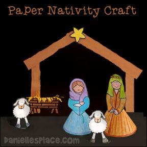Stand-up Nativity Craft