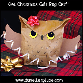 Owl Christmas Gift Bag Craft