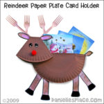 Reindeer Paper Plate Card Holder