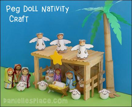 Peg Doll Nativity Craft