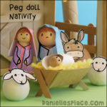 Peg Doll Nativity with Craft Stick Stable