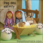 Mary and Joseph Peg Doll Nativity Craft