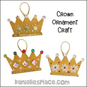 Christmas Crown Ornament Craft