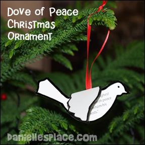 Dove of Peace Christmas Ornament Craft