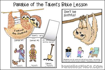 Slothfulness - The Parable of the Talents Bible Lesson