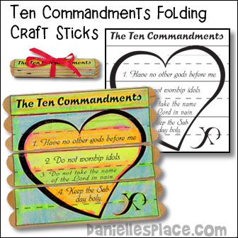 Ten Commandments Folding Craft Stick Craft - $2.00 Instant Download Pattern