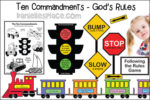 Ten Commandments - God's Rules Bible Lesson