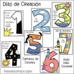 Days of Creation Coloring Sheets and Posters - Spanish