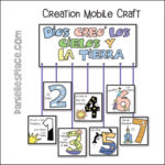 Days of Creation Mobile Craft - Spanish