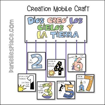 Days of Creation Mobile Craft - Spanish