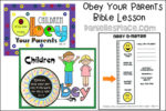 Obey Your Parents Bible Lesson for Children