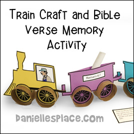 Train Craft and Bible Verse Activity