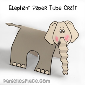 Elephant Paper Towel Tube Craft