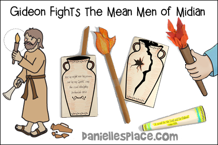 Gideon Fights the Mean Men of Midian Bible Lesson