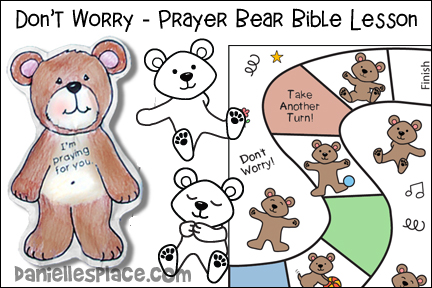 Don't Worry Prayer Bear Bible Lesson