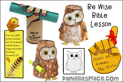 Be Wise Bible Lesson - NIV