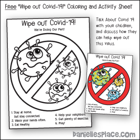 "Free ""Wipe out Covid-19!"" Coloring and Activity Sheet"