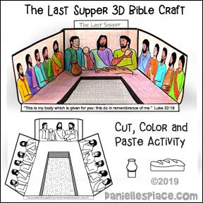 The Last Supper 3D Bible Craft