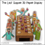 The Last Supper 3D Paper Display Craft