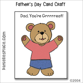 """Dad, ""You're Grrrreat!"" Father's Day Card Craft"