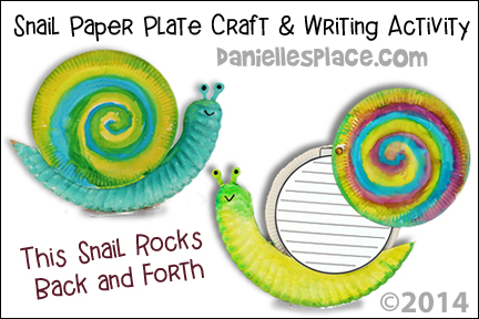 Snail Paper Plate Craft and Writing Activity