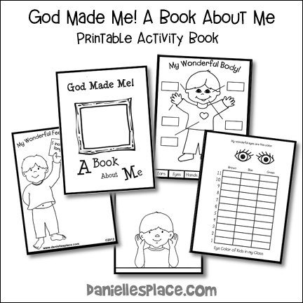 God Made Me Printable Activity Book
