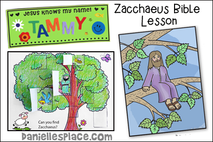 Zacchaeus Bible Lesson for Younger Children