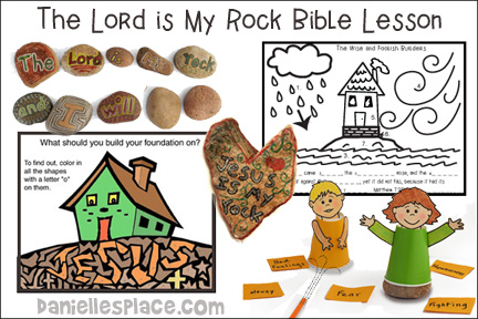 The Lord is My Rock Bible Lesson