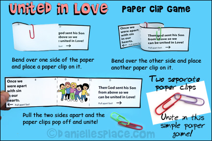 United in Love Paper Clip Game