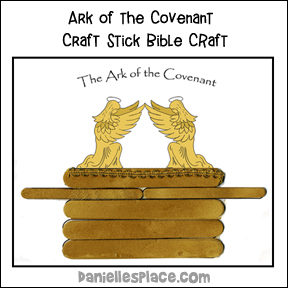 Ark of the Covenant Craft Stick Pattern