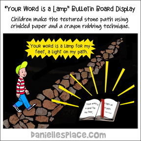 Your Word is a Lamp Bulletin Board Display and Group Activity