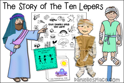 "The Ten Lepers Bible Lesson - ""Don't Forget to Say Thank You!"""