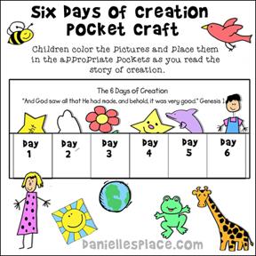 Days of Creation Envelope Craft