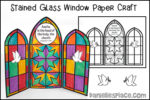 Stained Glass Window Triptych Craft
