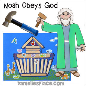 Noah Obeys God Bible Lesson for Children