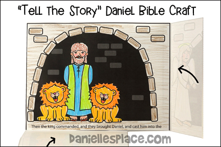 """Tell the Story"" Daniel in the Lion's Den Bible Craft"