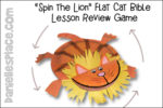 Spin the Lion Flat Cat Lesson Review Game