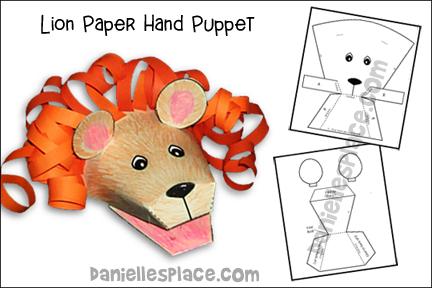 Lion Paper Hand Puppet Craft