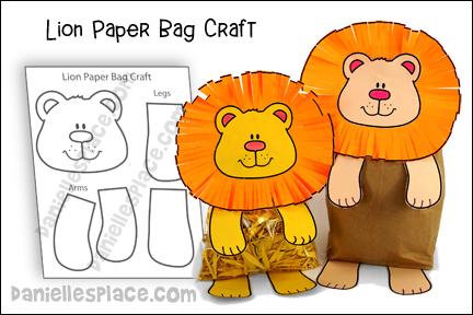 Lion Paper Bag Craft