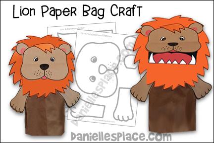Lion Paper Bag Puppet Craft