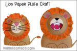 Roaring Lion Paper Plate Craft
